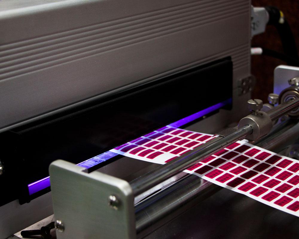 平壓式凸版標籤印刷