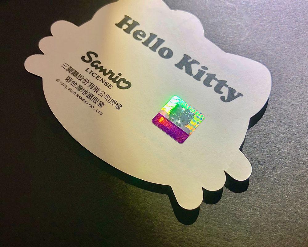 三麗鷗 Sanrio Hello Kitty 防偽標籤辨識3步驟1提報